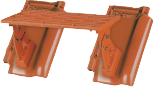 Aluminiowa ława<br /> kominiarska 46 cm,<br /> komplet z dwoma<br /> dachówkami gruntowymi