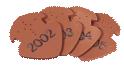 Płytka zakończeniowa gąsiora z datą