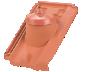 Dachówka przejściowa z mankietem gumowym